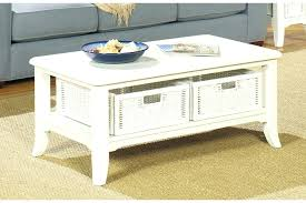 coffee tables with storage baskets coffee tables white storage coffee table with round wicker baskets marble