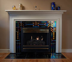 fascinating glass tile fireplace surround and brick fireplace ideas orange red black gray and white brick