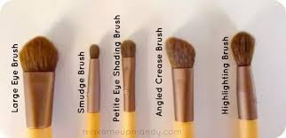 eye makeup brushes and their uses. i use the angled creased brush (for both application \u0026 blending), because have small eye lid and if a bigger brush, my shadows go all over makeup brushes their uses