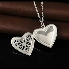 whole 2016 new 925 sterling silver jewelry heart photo locket necklace pendant best gift for women girl p1018 pendant silver chain necklace from