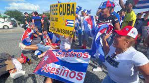 Cuba demonstrators block South Semoran