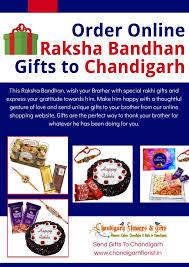 order raksha bandhan gifts to chandigarh