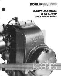 tp 2045 b new parts manual k181 kohler engine spec s 30100 30848 tp 2045 b new parts manual k181 kohler engine spec s 30100