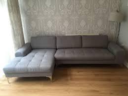 vittorio left hand facing corner sofa pearl grey