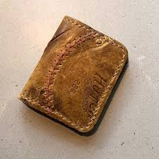 baseball glove leather wallet m rawlings