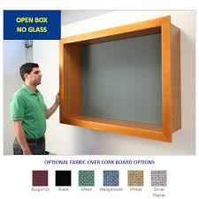 LARGE OPEN FACE WOOD CORK SHADOW BOX with 1