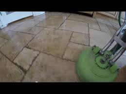 travertine stone grout cleaning