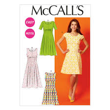 Dress Patterns Fascinating McCall's Misses'Miss PetiteWomen'sWomen's Petite Dresses Pattern