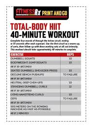 total body hiit workout build muscle and burn fat in just 40 minutes the fitness board workout fitness and hiit