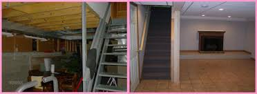 Inspiration Idea Finished Basement Before And After Basement - Ununfinished basement before and after