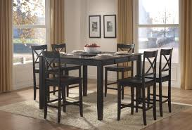Image Ellwood Black Homelegance Billings 7pc Counter Height Table Set In Black Black Bar Height Table Goldwakepressorg Homelegance Billings 7pc Counter Height Table Set In Black Black