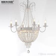 vintage french empire crystal chandelier light fixture vintage crystal lighting wrought iron white chrome black color pendant light fixtures ceiling lamp