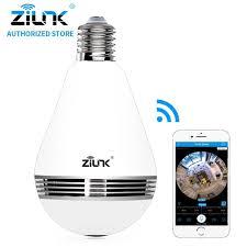 Zilnk New Mini Lamp Bulb Light Wifi Camera Fisheye 1080p Hd Wireless