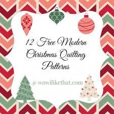 12 Free Modern Christmas Quilt Patterns - wow i like that & Free Modern Christmas Quilting Patterns @ wowilikethat.com Adamdwight.com