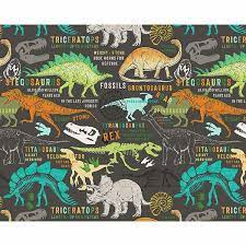 dinosaurs wall mural by wall rogues