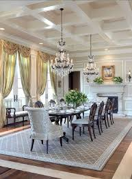 Inspiring Elegant Dining Room Sets Table Wooden Frame White Seat Dining  Chairs Beige White Patterned Rug