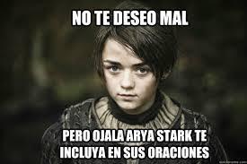 Arya Stark meme memes | quickmeme via Relatably.com