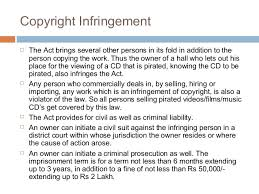 a presentation on copyright copyright infringement copyright infringement