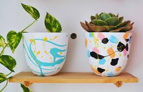 kmart diy hand painted plant pots patchwork cactus