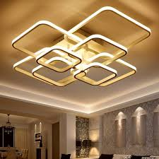 touch remote dimming modern plafon led ceiling lamp fixture aluminum dining living room bedroom lights