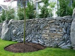 natural stone for walls stone garden retaining wall ideas