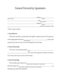 Limited Partnership Agreement Template Basic Partnership Agreement Template Free Partnership Agreement