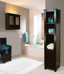 bathroom decorating ideas. WOoden Vertical Shelving In White Updated Bathroom Background Palette And Recessed Lighting Decorating Ideas D