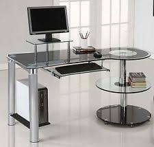 modern glass office desk. Modern Computer Desk Workstation Home Office Furniture Storage Glass Metal New
