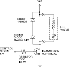 the lee company lee solenoid valve drive circuit schematics note vcc required lee co solenoid valve operating voltage