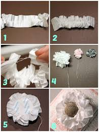 How To Make A Paper Ribbon Flower Make A Flower With Pleated Satin Ribbon May Arts Wholesale Ribbon