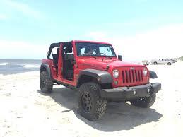 fire er red 2018 jeep jku wrangler 4 door no door mesh top