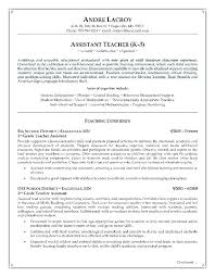 Resumes For Teachers Child Life Assistant Sample Resume
