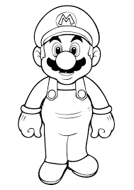 Mario Coloring Page V3301 And Coloring Pages Mario Coloring Pages