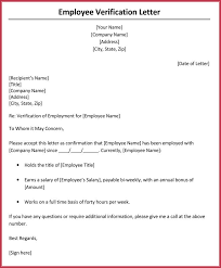 Employment Salary Verification Letter Sample Professional Letter