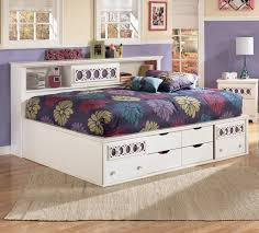 white full storage bed. Signature Design By Ashley Zoey Full Bedside Bookcase Daybed - Item Number: B131-85 White Storage Bed