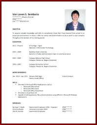 Resume Examples For College Students Sample College Student Resume