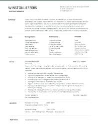 Restaurant Shift Manager Resume Template Microsoft Word
