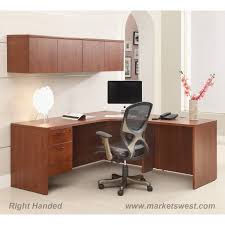 Cherry File Cabinet L Shape Desk 72x72 With Computer Corner Wall Mount Cabinets