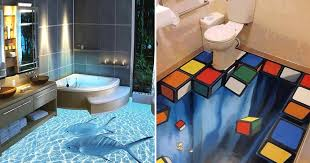 murals on walls are great but these 3d floors transform bathrooms into an epic experience facebook