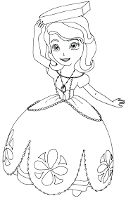 Small Picture Sofia The First Coloring Pages Perfect Posture Sofia the First