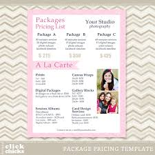Photography Pricing Template Photography Pricing List Template 13