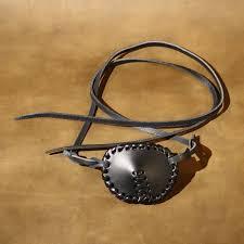 re enactment larp steampunk leather eye patch perfect for pirates plain black