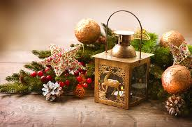 Pine Cone Candles Photos New Year Lantern Star Decoration Balls Candles Branches Pine