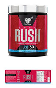 bsn endorush energy performance pre workout powder with creatine 30 servings blue raspberry 13 7 ounce
