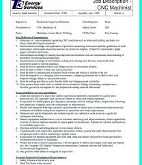 Narrative Resume Samples Templates Cnc Operator Sample Job Description Machinist Resume 49