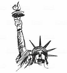 自由の女神像 お台場 自由の女神のレプリカのベクターアート素材や画像