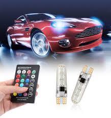 Online Shop <b>2PCS</b> Car <b>RGB LED</b> 12V T10 <b>LED RGB 5050 6SMD</b> ...