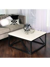 Find new square coffee tables for your home at. Amazon Com Kate And Laurel Kaya Two Toned Wood Square Coffee Table With White Top And Black Base Furniture Decor