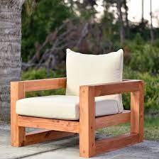 modern outdoor chair free plan diy