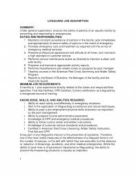 Lifeguard Duties For Resume Examples Example Experience Points No